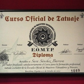 Diploma Miss Tattoo Ink